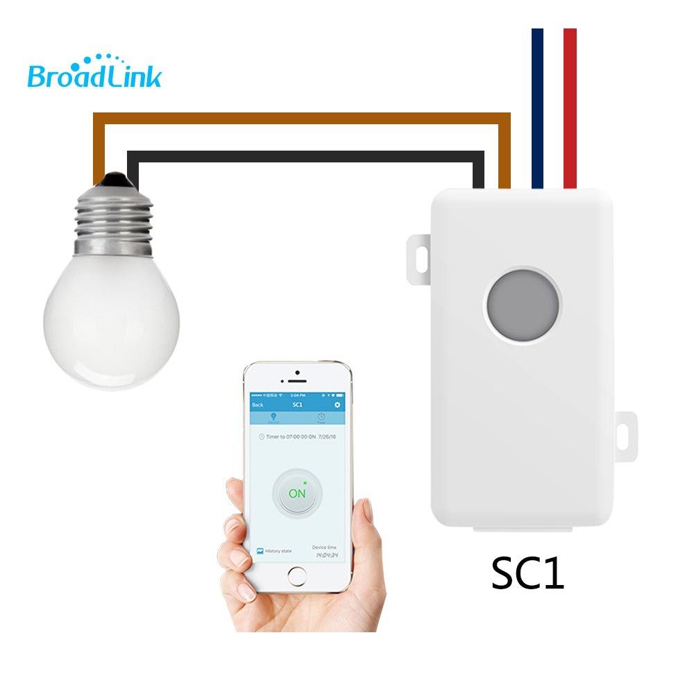 外贸Broadlink SC1 博联DIY改装件 智能定时语音控制WIFI无线开关