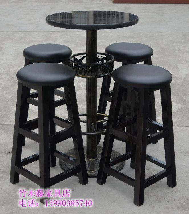 厂家批发 高脚凳 实木酒吧桌椅  酒吧凳 吧台椅 尺寸定做 特价