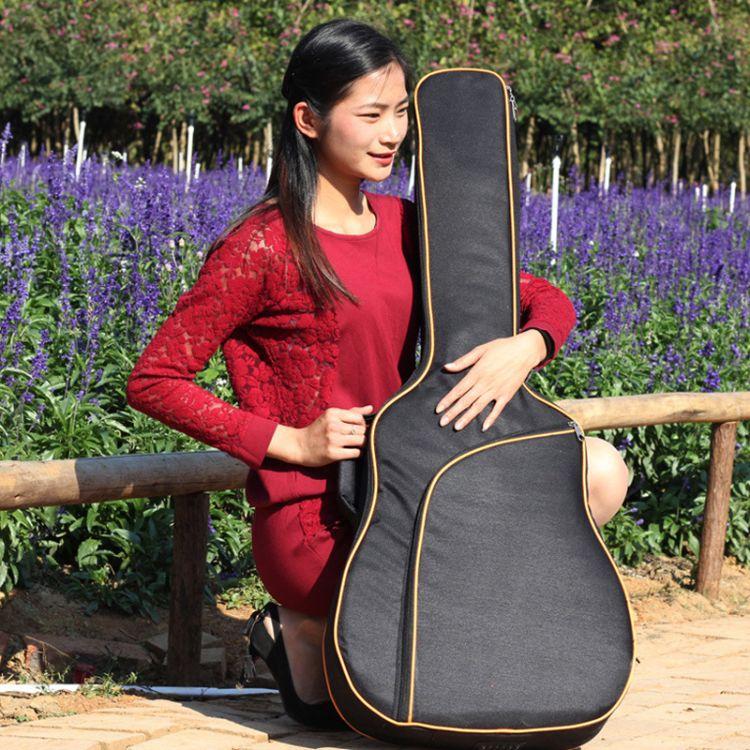工厂直销k6新款41寸民谣高档加棉吉他包加厚双肩背包琴包定做印字