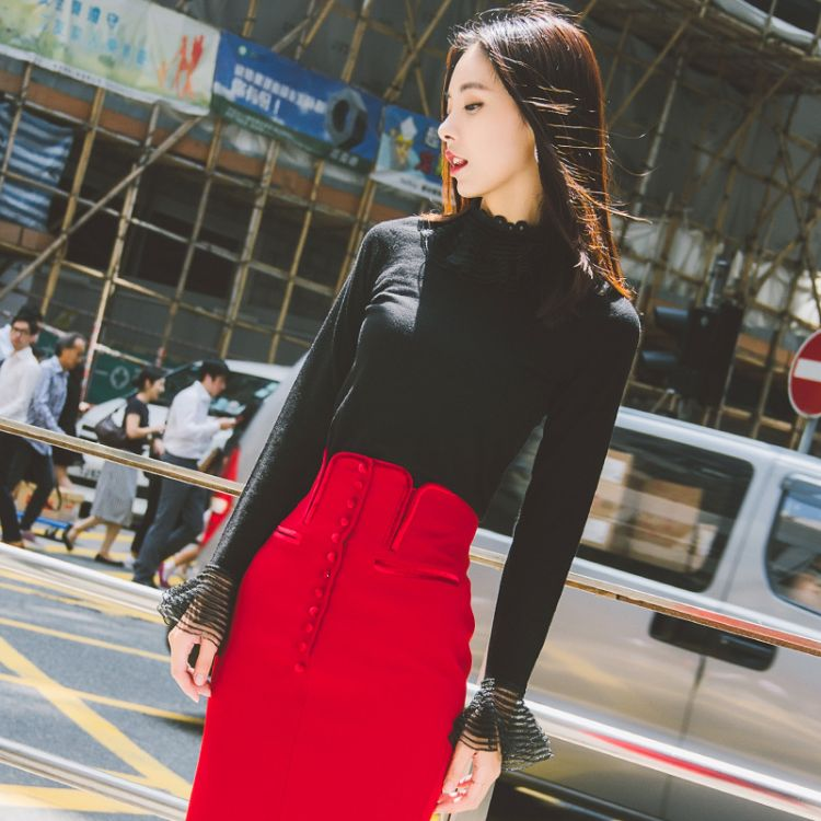 套头毛衣女秋冬新款韩版内搭长袖羊毛针织衫短款修身打底衫