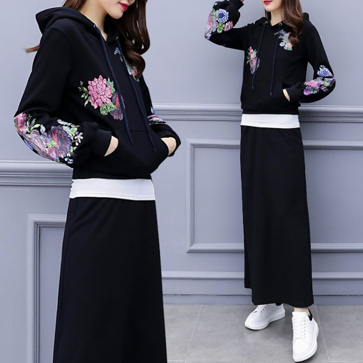 2018早秋季新款大码女装胖mm初秋韩版时髦洋气两件套装微胖减龄潮