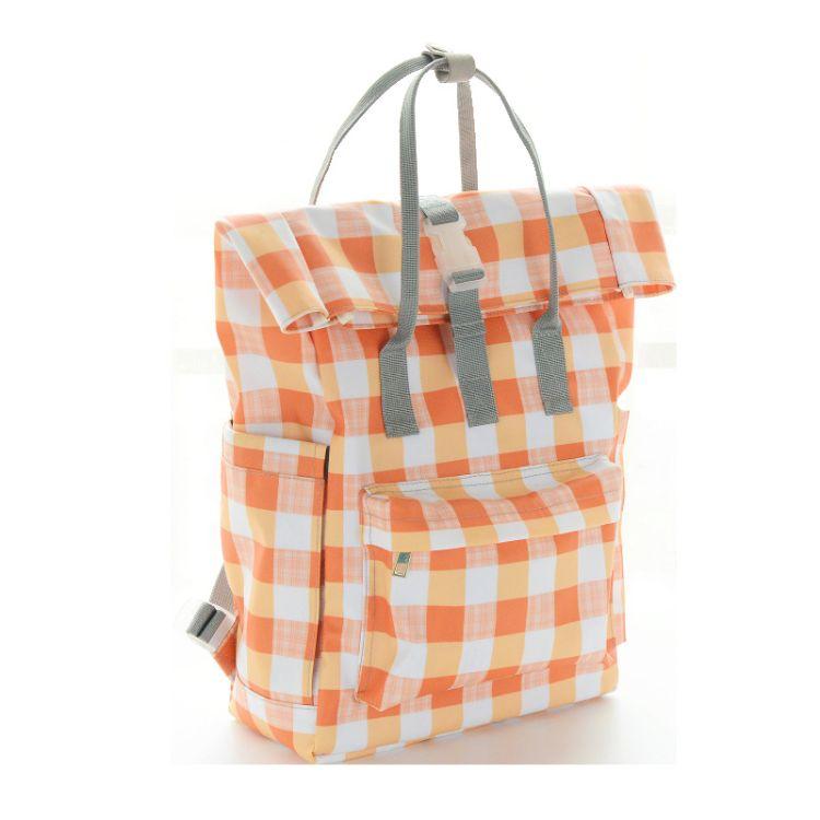 妈咪包 新款欧洲英伦妈妈包定制 简约格子多功能手提双肩包母婴袋
