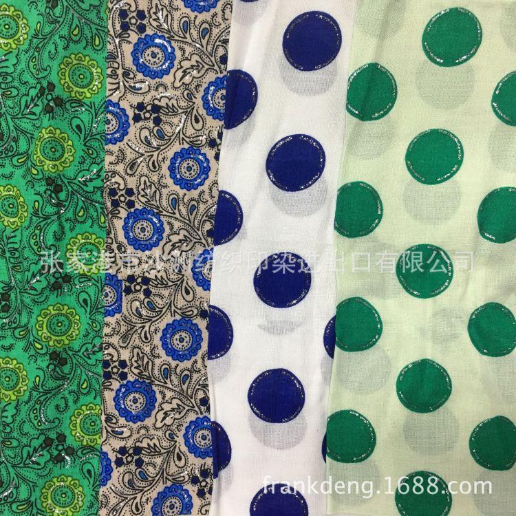 厂家供应时尚时装人棉印花布  连衣裙休闲服服装里布面料