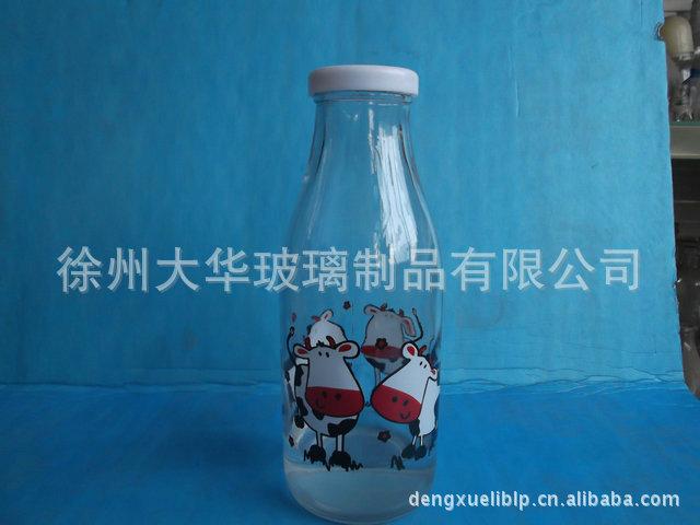 大华 生产销售高白料圆柱形透明出口婴儿玻璃奶瓶