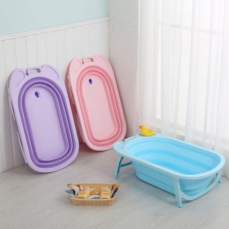 厂家直销婴儿浴盆可折叠宝宝洗澡盆儿童新生儿泡澡盆浴桶批发