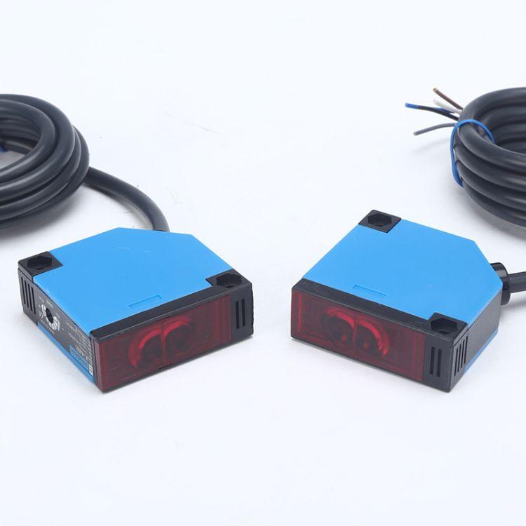 方型光电开关对射式E3JK-5DM1-5L  交流电压90V-220V对射光电开关