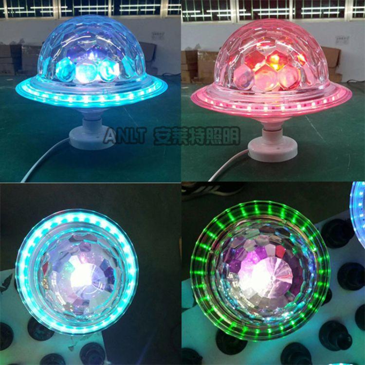 飞碟舞台灯 新款 蓝牙音箱 酒吧USB七彩led水晶魔球旋转 LED 舞台