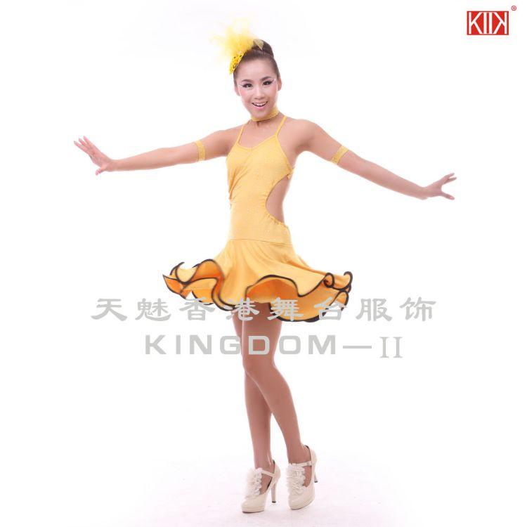 天魅2015儿童拉丁舞演出服少女拉丁舞比赛舞蹈服装练功服EL005
