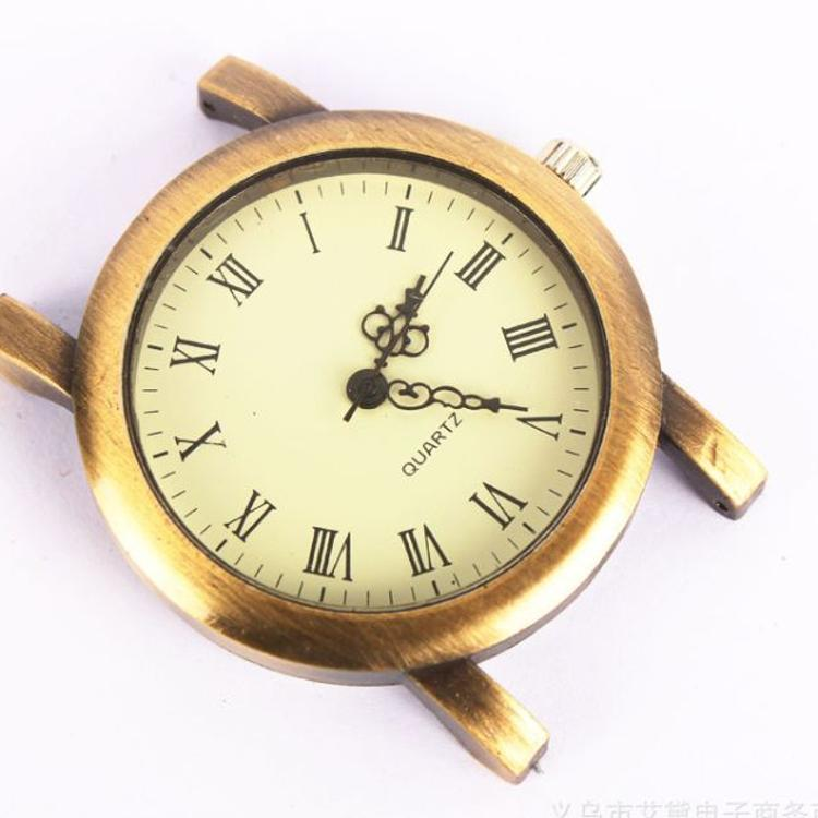时尚古铜色罗马面复古风格大男表表头 男士手表配件厂家货源供货