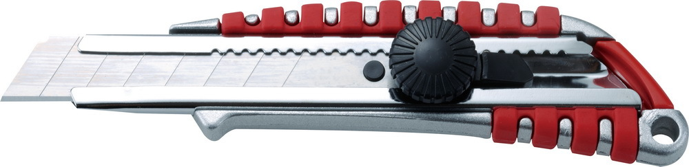 包胶铝合金美工刀 裁纸刀 开箱刀 工具实用型 旋钮 、直推款式