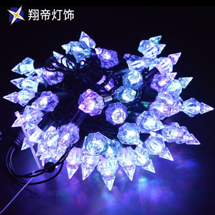 LED户外防水钻石灯串 五角星彩满天星星灯节日装饰批发灯光节系列