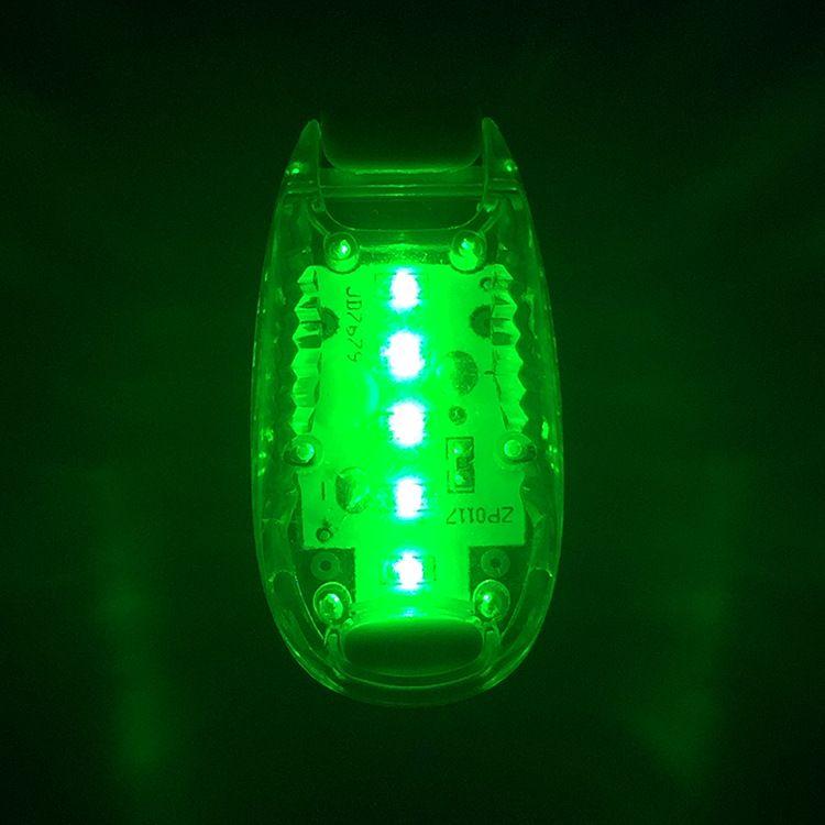 厂家直销 ABS自行车灯5LED尾灯 塑料高亮警示灯 户外登山背包灯