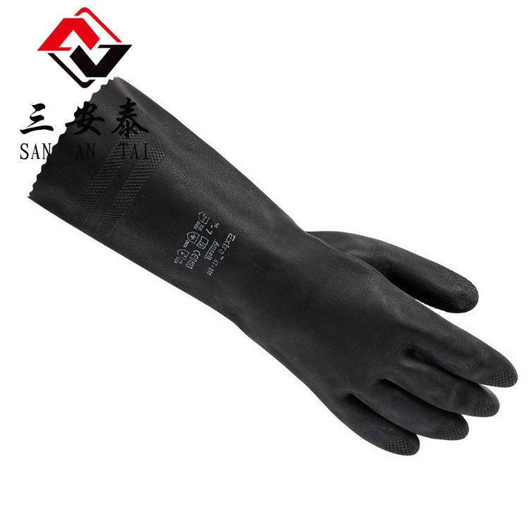 安思尔Ansell87-950橡胶防化学实验室耐酸碱家用防护劳保手套包邮