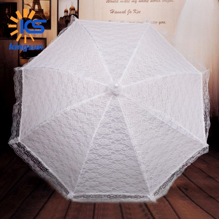 西式新款新娘蕾丝伞手工婚礼白色工艺伞婚纱摄影道具婚庆用品批发