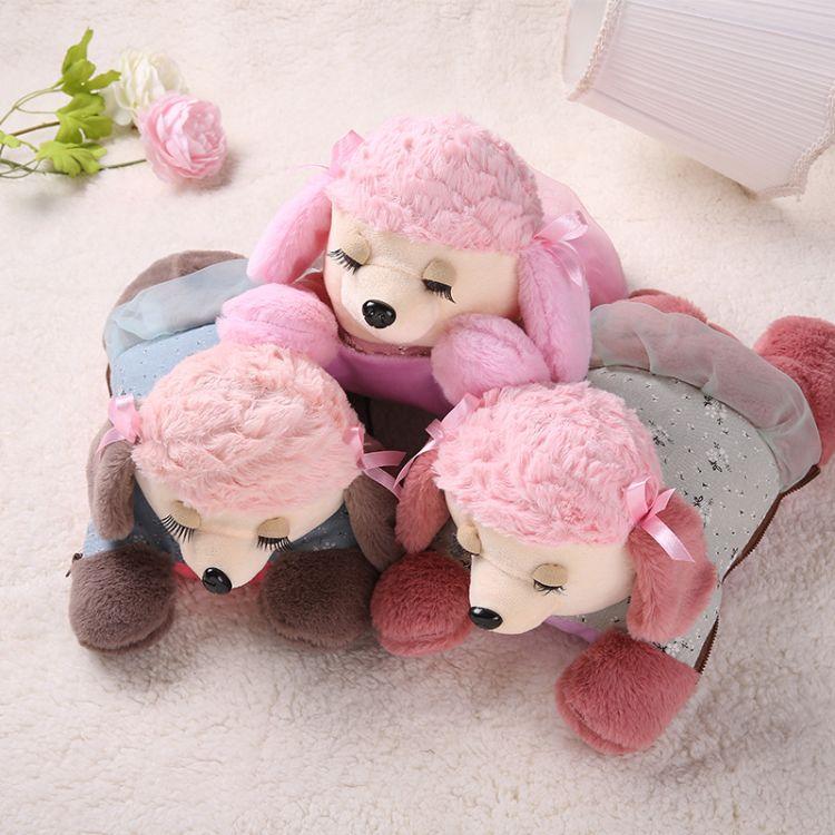 厂家直销暖手宝女充电防爆毛绒可爱韩版注水卡通小狗暖宝宝热水袋