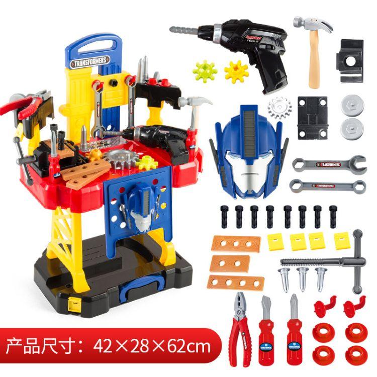 工具台过家家儿童玩具男孩仿真维修工具套装益智DIY玩具6一件代发