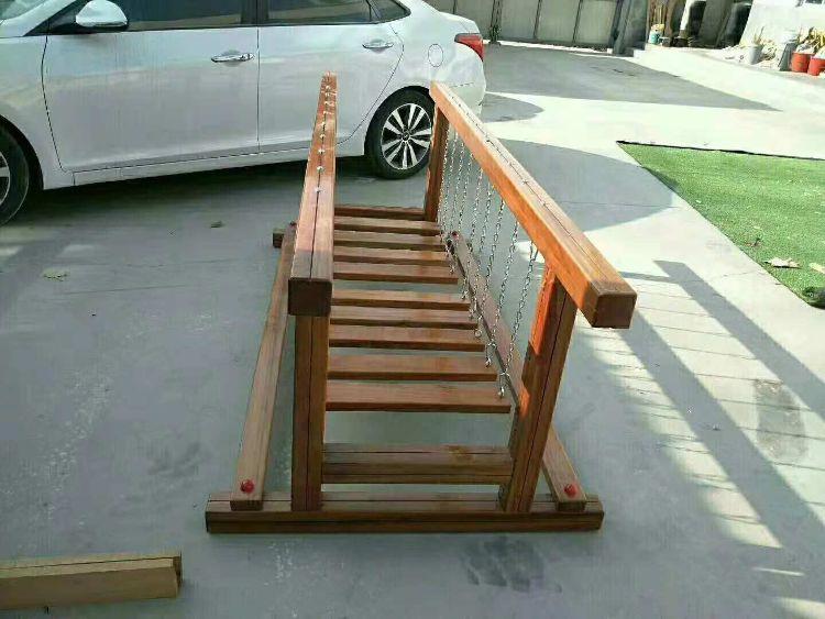 幼儿园 黄花梨木质荡桥 儿童实木攀爬架 感统训练户外组合滑梯