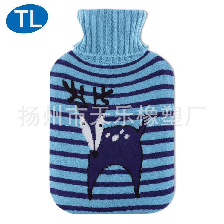 针织套热水袋外套圣诞节水袋花式和标识的欢迎订购