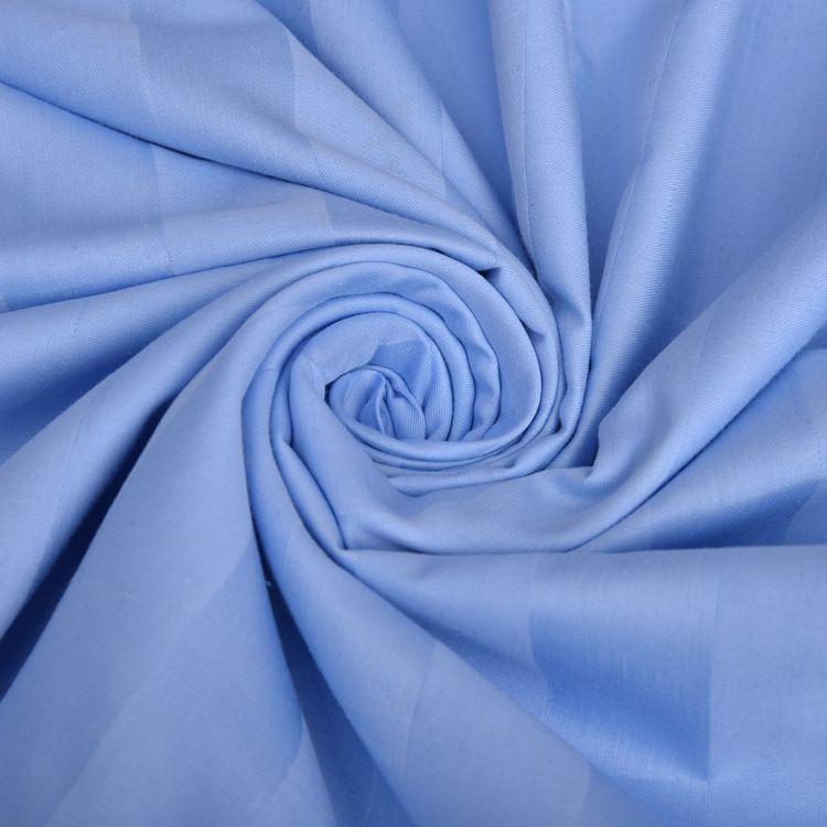 加密特密缎条酒店布草面料  全棉多色段条床单被罩布料 特价批发