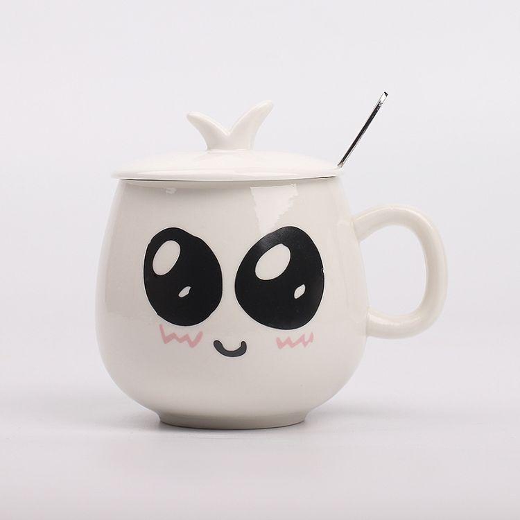 忠艺信卡通马克杯 萌表情异形 陶瓷 定制马克杯 陶瓷杯批发