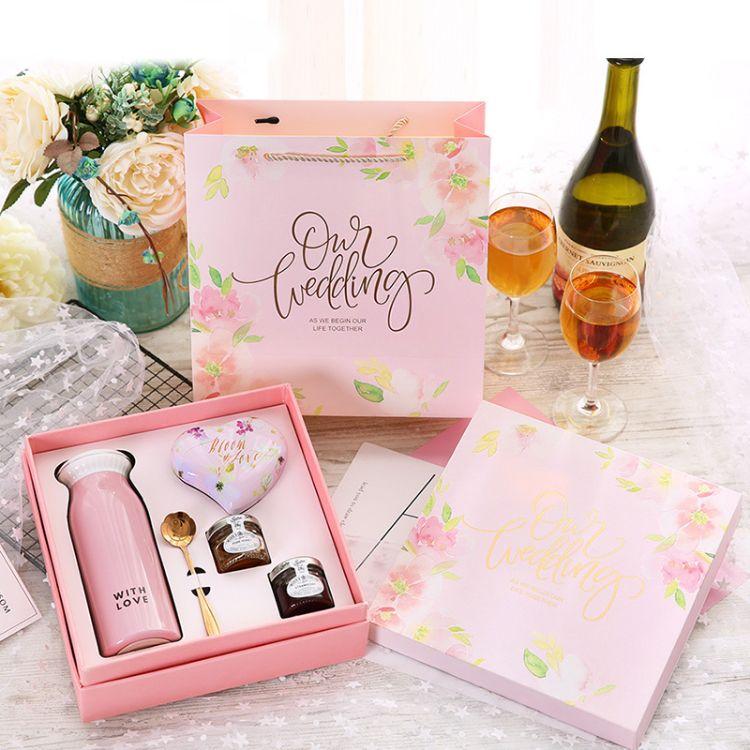 欧式贝壳保温杯结婚礼喜糖成品礼盒 伴娘伴手礼创意包装盒定做