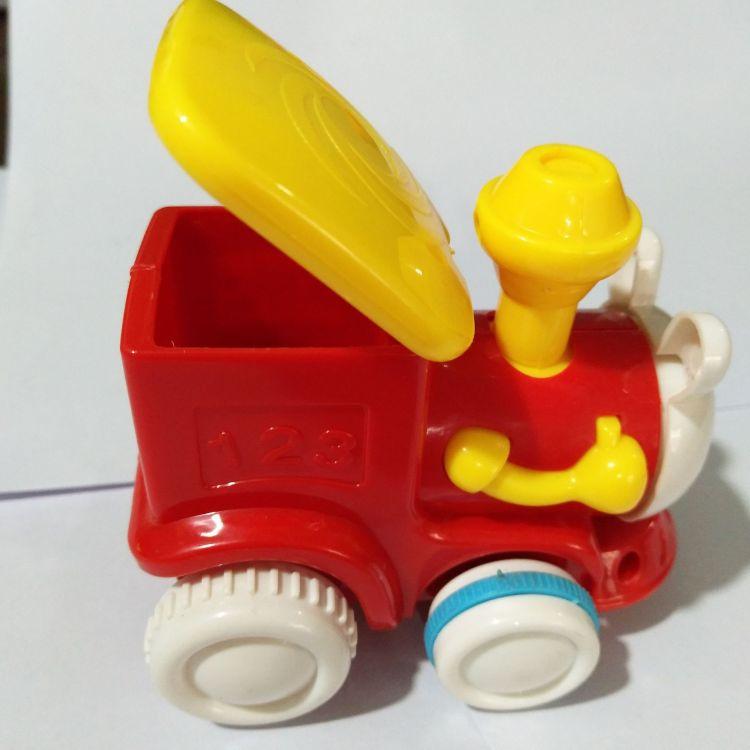 2017款儿童益智惯小火车4只套装趣味卡通交通工具小火车