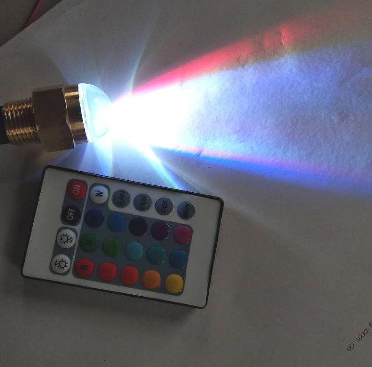 厂家直销RGB遥控LED水底灯铜水下灯游艇五金配件