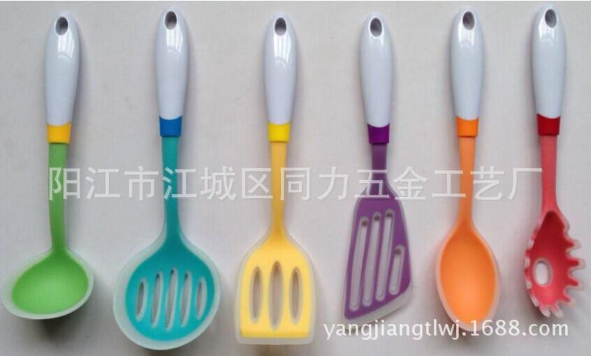 厂家供应高档尼龙硅胶厨具套装-质量保证-价钱优惠-欢迎咨询8
