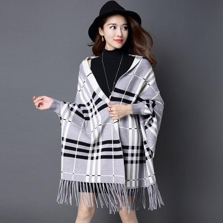 2017秋冬新款巴巴格双面貂绒披肩外套优雅气质大衣明星同款围巾