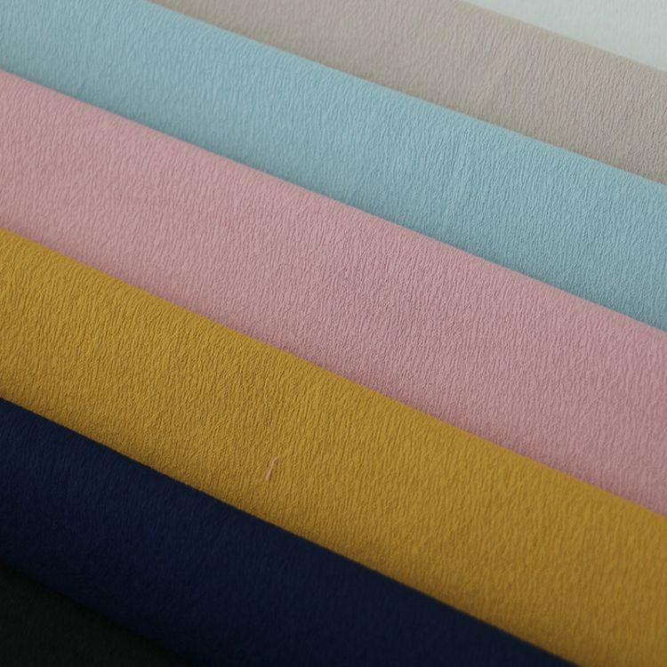 厂家现货 纯色乱纹色织面料 涤棉混纺布 男女装服装衬衫面料