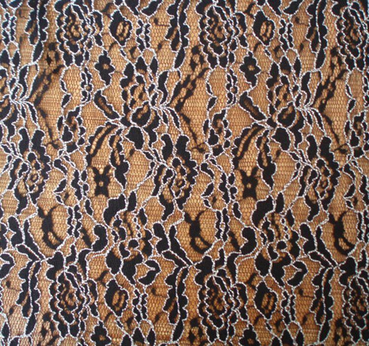 进口双色类蕾丝面料 用于时装-家居家纺-头饰类蕾丝面料