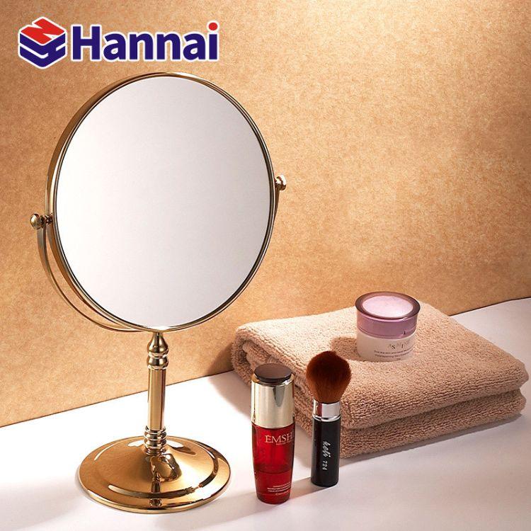 浴室美容镜公主卧室折叠梳妆镜双面简约化妆镜卫生间放大台式镜子