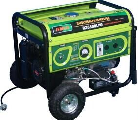 2KW燃气发电机组,RZ2500LPG或CNG,汽油燃气转换发动机