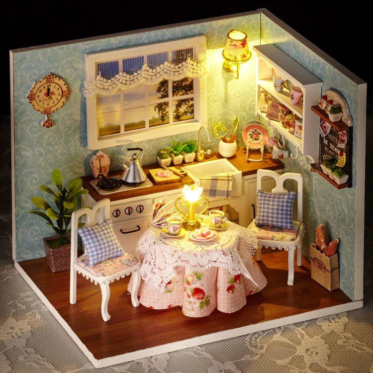 DIY小屋 幸福厨房 手工模型 小房子儿童益智DIY制作玩具生日礼品