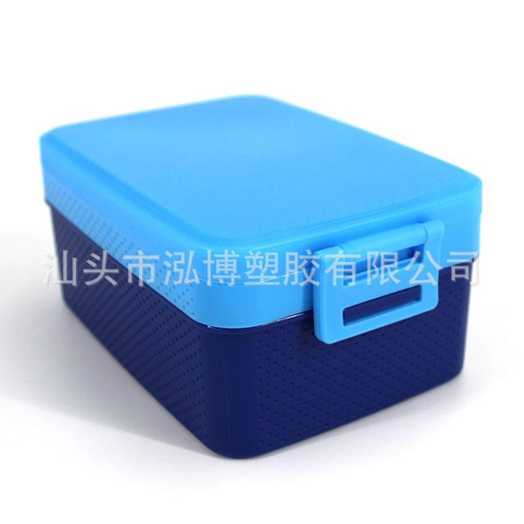 长方形形双层饭盒 创意学生日式便当盒寿司盒保鲜盒微波