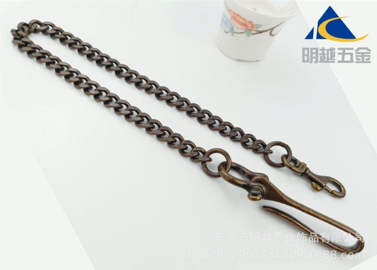 纯铜复古做旧金属财布链裤链腰链