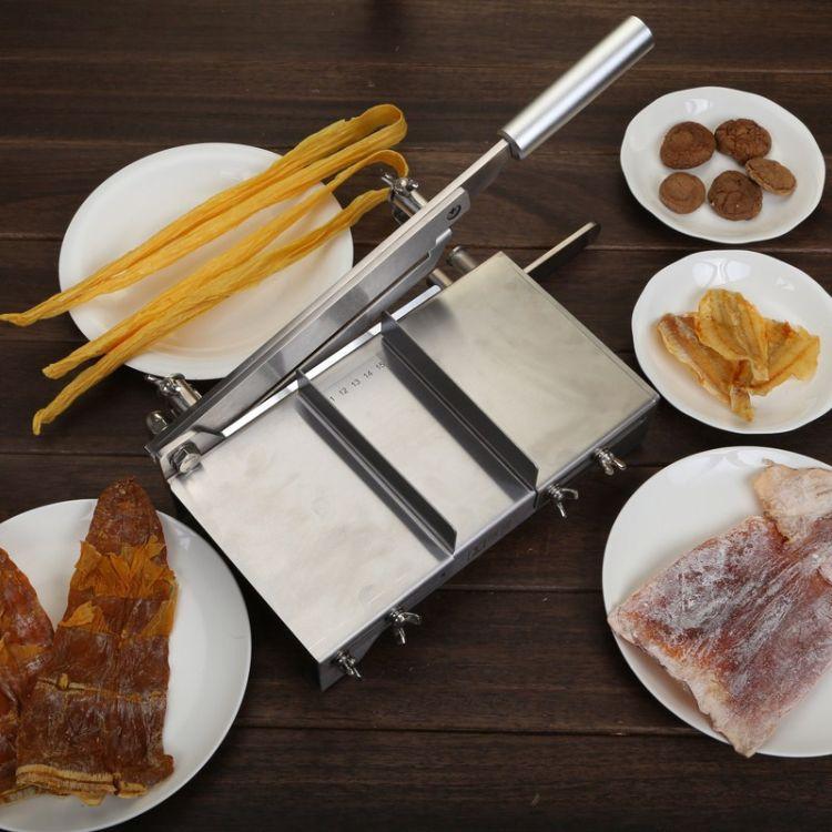 阿胶糕切片不锈钢铡刀鹿茸轧糖食品级中材切刀年糕刀家用小型闸刀