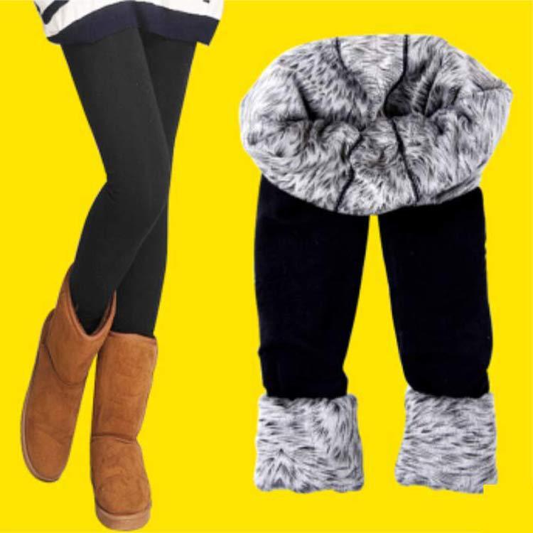 【1218年终大促19.9包邮】350g女士时尚双层加厚保暖打底裤