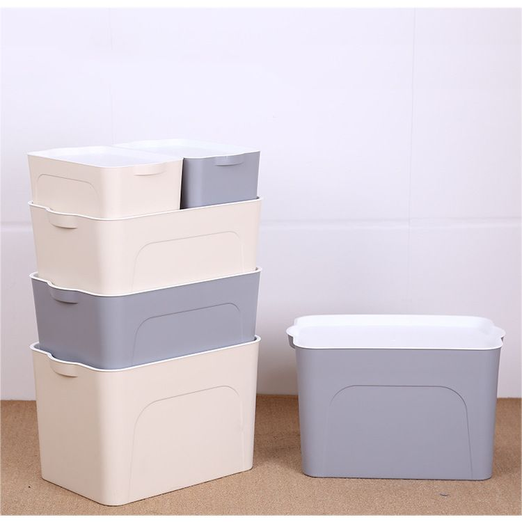 厂家直销塑料收纳箱 大号家居用品折叠整理箱有盖储物箱 收纳箱