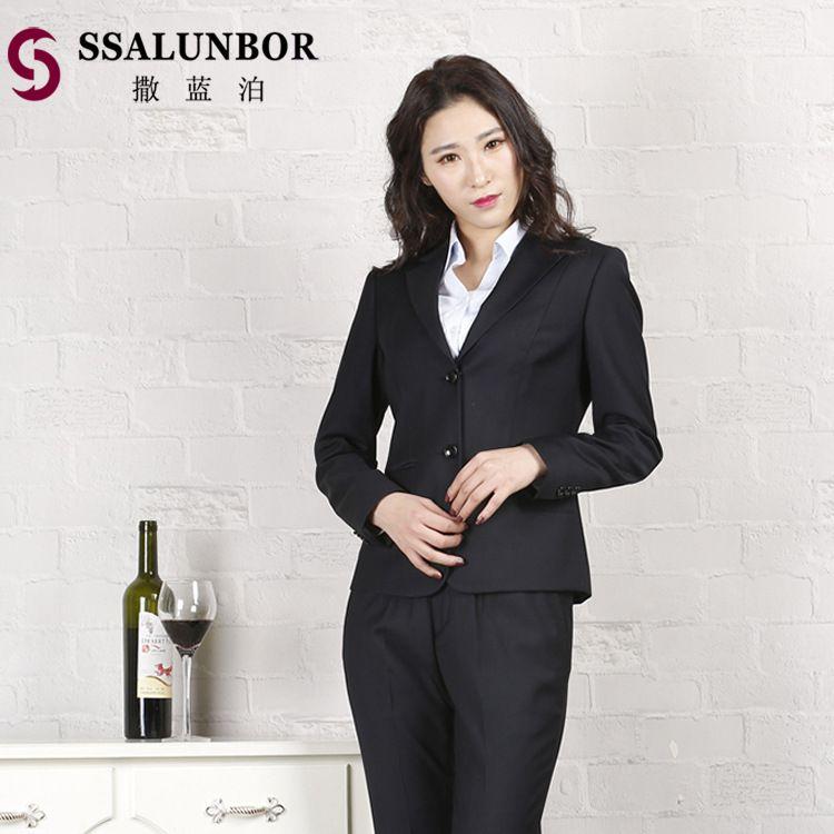 新款职业套装正装面试工作服三件套量身定制质量保证春秋女