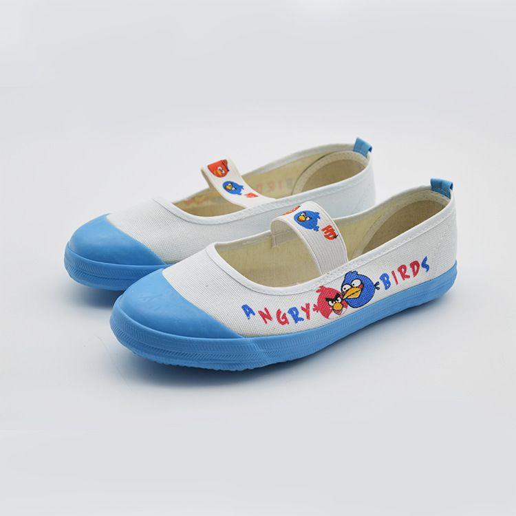 春秋新款女童单鞋 中小学生舞蹈单鞋卡通一脚蹬女布鞋厂家批发