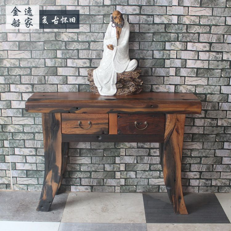 老船木供桌供台新中式实木条案中堂寺庙仿古佛桌神台香案道观定制
