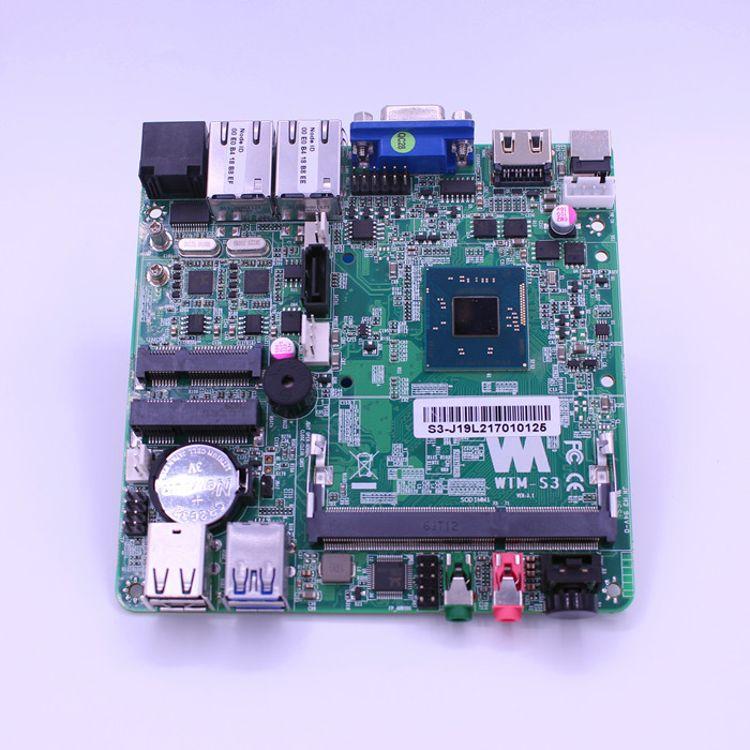 WTM-J1900 12*12 工控mini小主机 赛扬四核 WIFI MSATA 主板