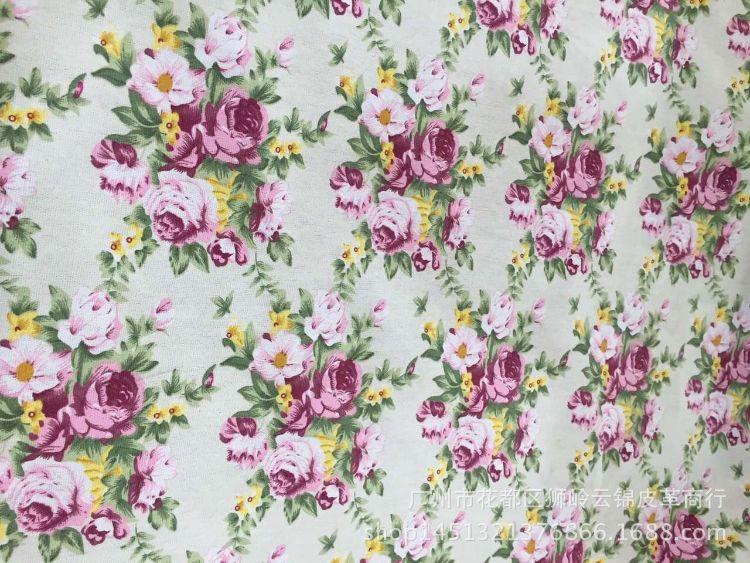 马丁色织镂空印花帆布 厂家新品直销 箱包背包女士手袋棉面料