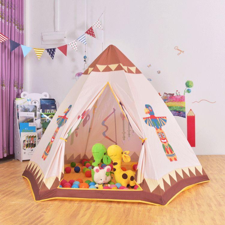 勇士部落六角帐篷 品质卡通宝宝玩具屋儿童室内外游戏屋厂家直销