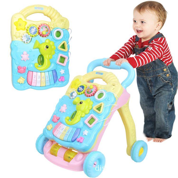 多功能学步车手推车6-18个月婴幼儿童音乐益智玩具分拆式助步车