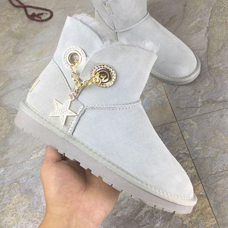 厂家批发 雪地靴女皮毛一体加厚保暖防滑2018冬季新款女靴女棉鞋