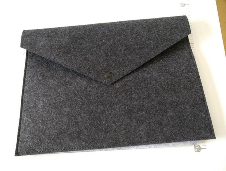 厂家直销爆款创意文件夹a4 定制办公资料毛毡彩色文件袋 可印logo