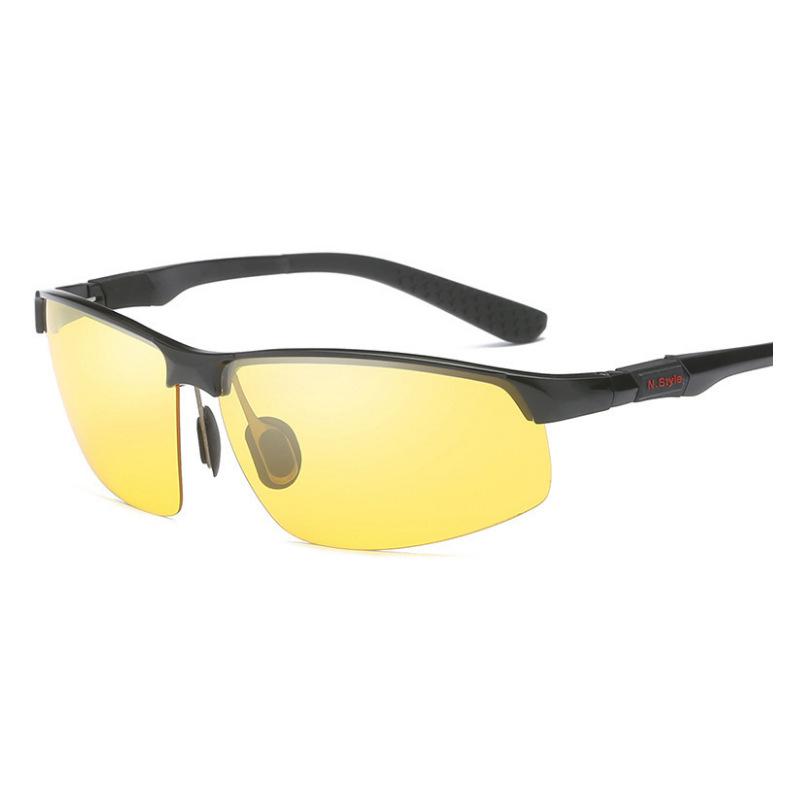 新款男士偏光太阳镜夜视镜墨镜运动开车驾驶夜视眼镜3121厂家批发