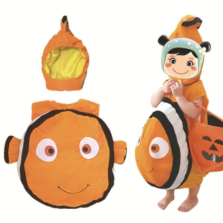 海底总动员尼莫nemo小丑鱼COS服儿童海底动物服亲子游戏服装